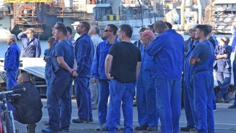 Workers at the Uljanik shipyard (Photo: Dusko Marusic/PIXSELL)