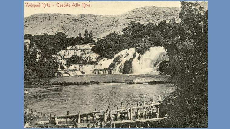 Vodopad Krke - Cascate della Krka 1900.g. (s dopuštenjem NP Krka iz newslettera http://www.npkrka.hr/stranice/stare-razglednice-newsletter/400.html)