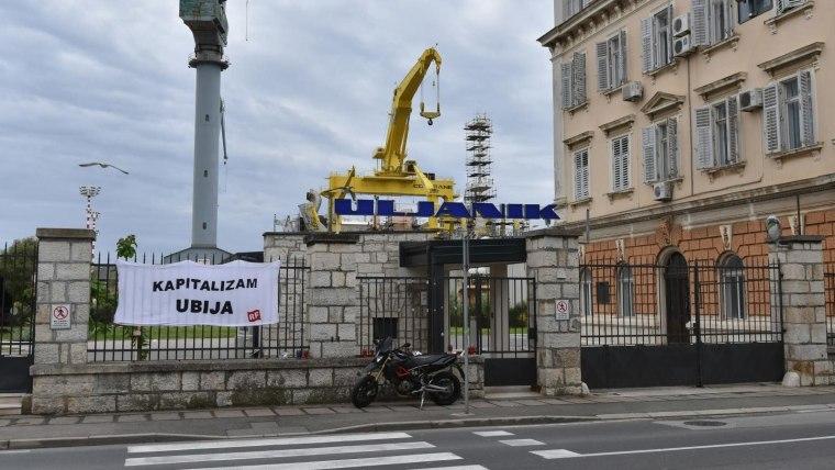 Der Eingang zu Uljanik-Werft in Pula (Foto: Dusko Marusic / PIXSELL)