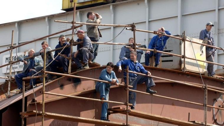 Trabajadores de Treći maj (Foto:Goran Kovacic/PIXSELL)