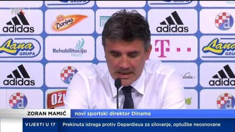 Zoran Mamić announces his return to Dinamo (Photo: HRT)