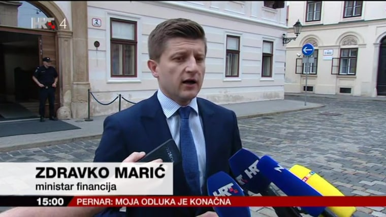 Finance Minister Zdravko Marić (Screenshot: HRT)