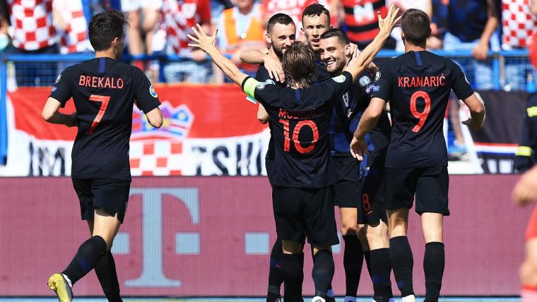 Kroatien feiert gegen Wales (Foto: Davor Javorovic / PIXSELL)