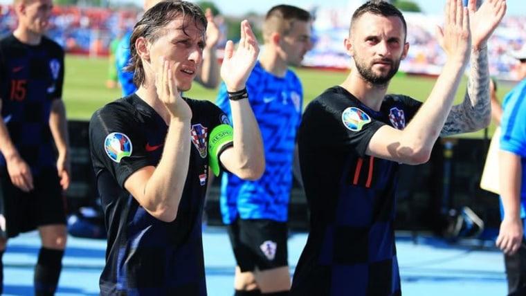 Die kroatische Fussballspieler Luka Modrić und  Marcelo Brozović (Foto: Davor Javorovic_PIXSELL)