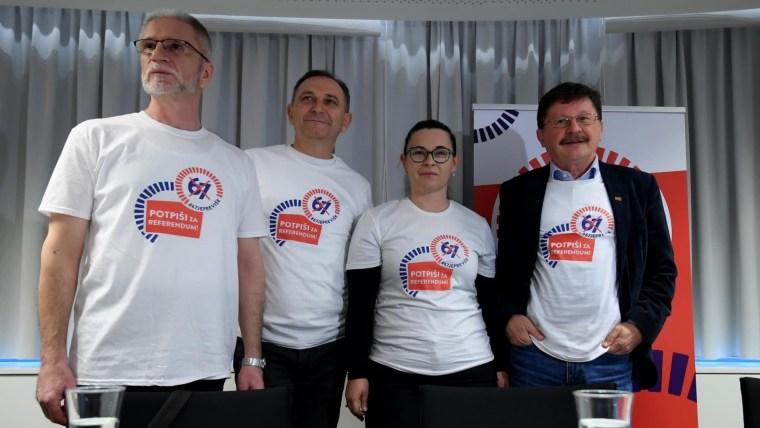 Líderes sindicales (Foto: Marko Lukunic / PIXSELL)
