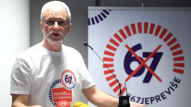 Union leader Krešimir Sever (Photo: Marko Lukunic/PIXSELL)