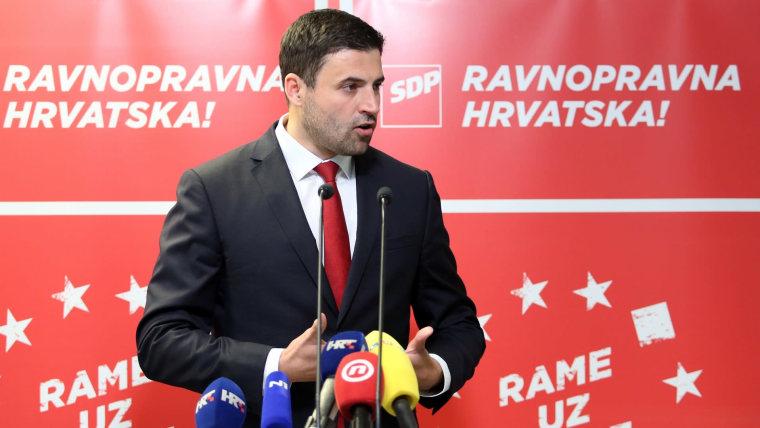 SDP Party Chairman Davor Bernardić (Photo: Luka Stanzl/PIXSELL)