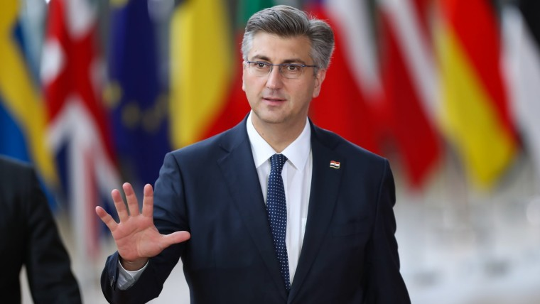 Croatian Prime Minister Andrej Plenković in Brussels (Photo: Zhang Cheng/XINHUA/PIXSELL)