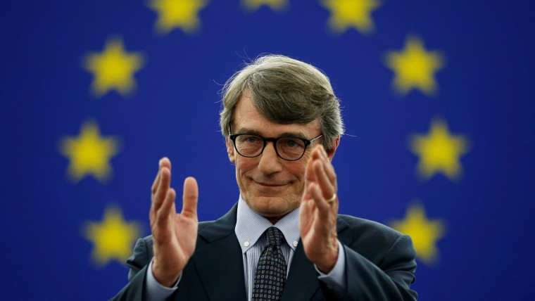 Neuer EU Parlamentspräsident David - Maria Sassoli (Foto: Reuters / Vincent Kessler)