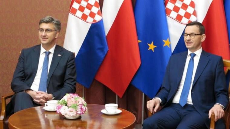 Mandatario de Croacia y de Polonia (Foto: Twitter Andrej Plenković)