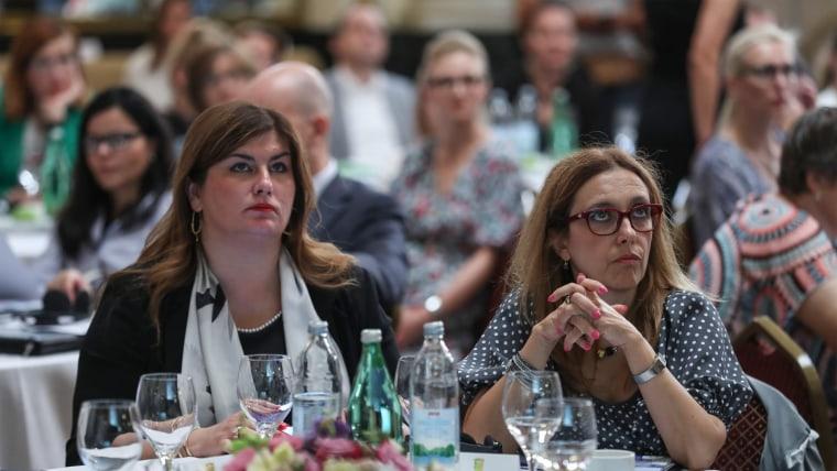 Gabrijela Žalac and Elisabetta Capannelli (Photo: Robert Anic/PIXSELL)