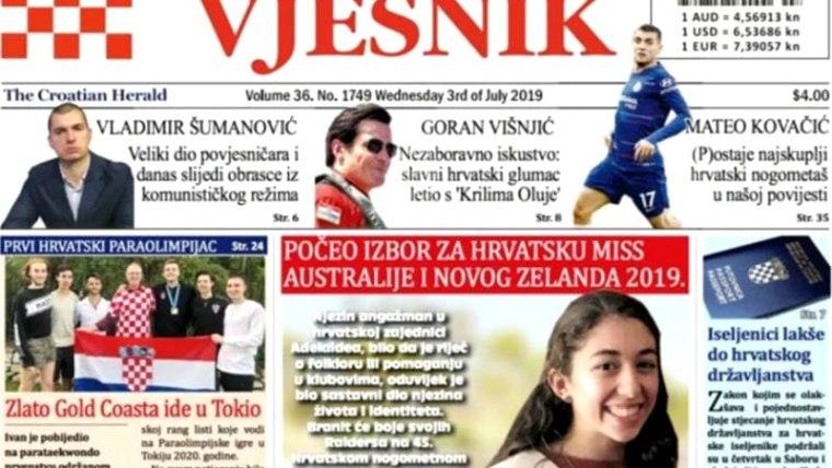 Hrvatski vjesnik, Melbourne (Foto: screenshot)