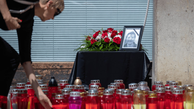 A day of mourning was held for a killed social worker in Đakovo today. (Photo: Davor Puklavec/PIXSELL)