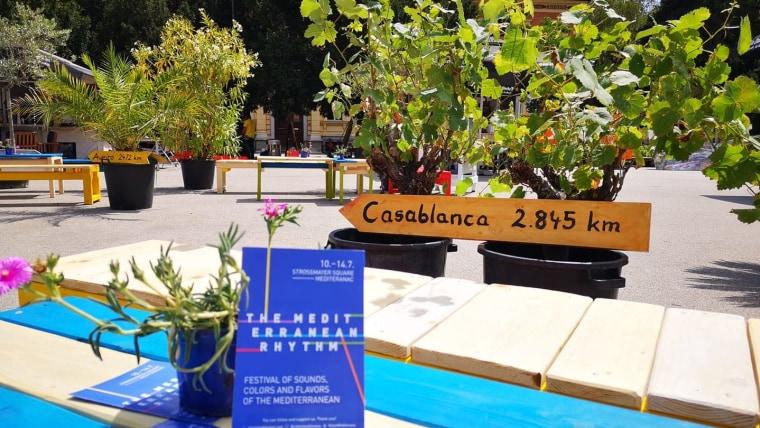 Mediteran na Strossmayerovom trgu. (Foto: Ritam Mediterana/ Facebook)