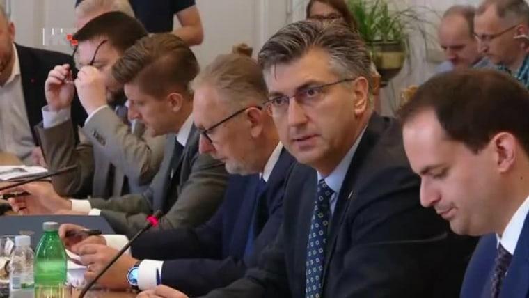 Prime Minister Andrej Plenković in parliament today (Photo: HRT)