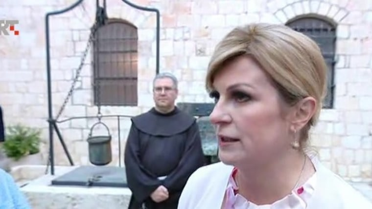 Kolinda Grabar-Kitarović in Jerusalem (Foto: HRT)