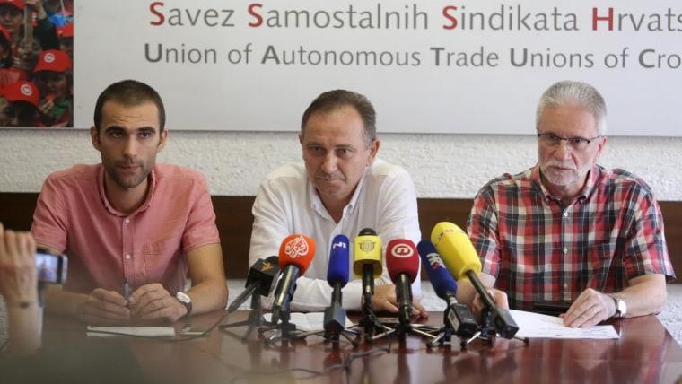 Conferencia en la Unión de Sindicatos de Croacia (Foto:Matija Habljak/PIXSELL)
