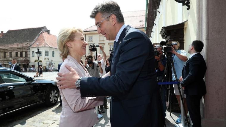President of the European Commission Ursula Von Der Leyen and Croatian Prime Minister Andrej Plenković (Photo: Sanjin Strukic/PIXSELL)