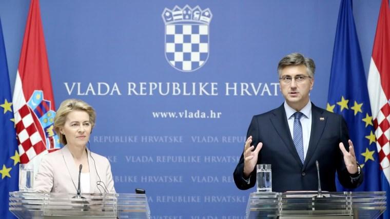 Mandatarios reunidos en Zagreb (Foto:Sanjin Strukic/PIXSELL)