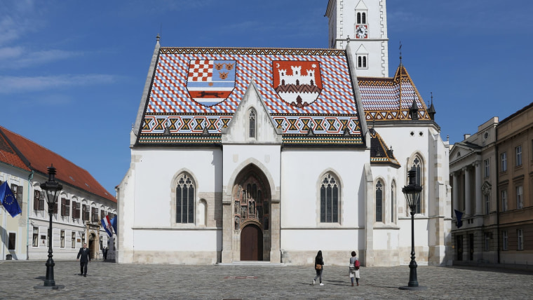 Saint Mark's Church on Saint Mark's Square in Zagreb's upper town (Photo: Patrik Macek/PIXSELL)