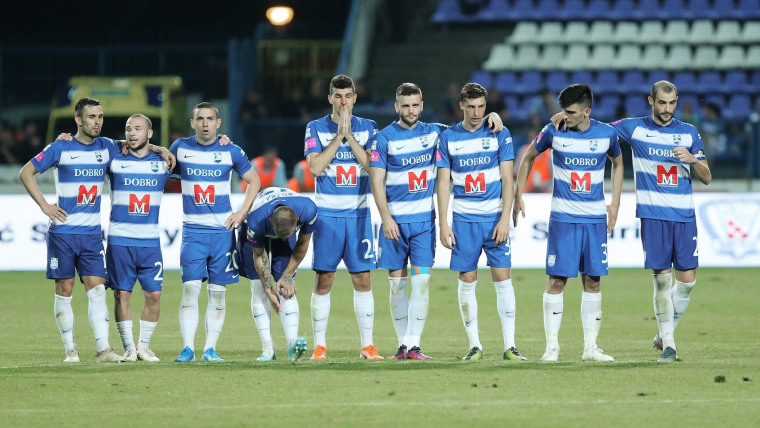 Osijek players during penalty shootout (Photo: Davor Javorovic/PIXSELL)