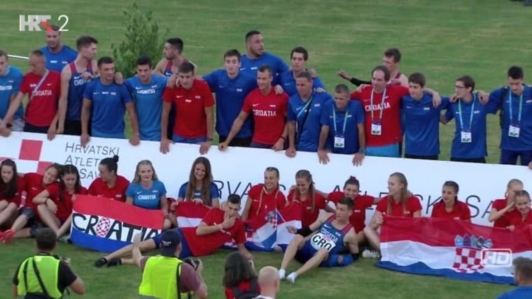 Equipo de atletismo croata (Foto: HRT)