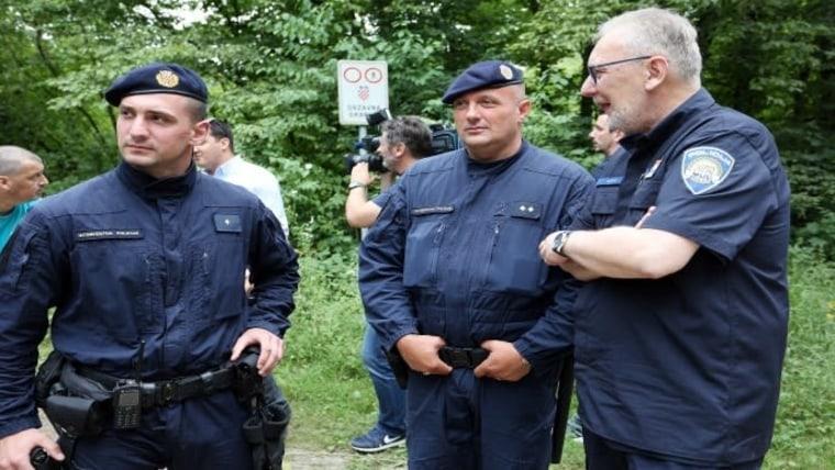 Croatian border police with Interior Minister Davor Božinović (Photo: Kristina Stedul Fabac/PIXSELL)
