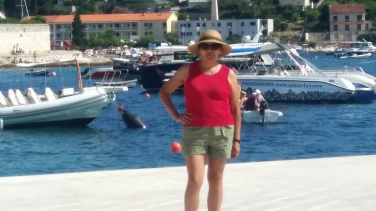 Jackeline Glasinović en Croacia (Foto: archivo personal)
