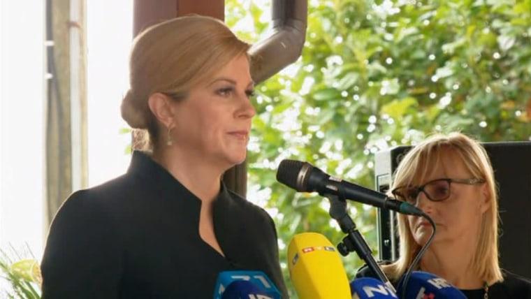 President Kolinda Grabar-Kitarović condemned Greater Serbian totalitarianism (Photo: HRT)