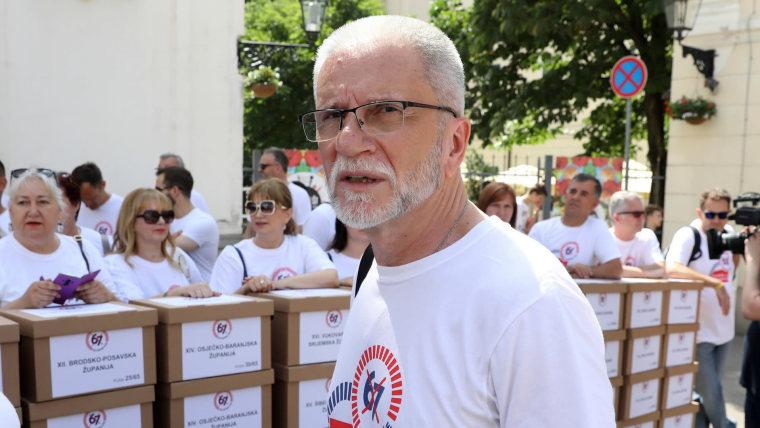 Union leader Krešimir Sever (Photo: Patrik Macek/PIXSELL)