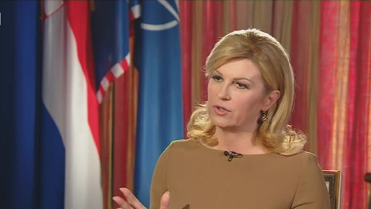 Predsjednica Kolinda Grabar-Kitarović. (Foto: hrt.hr)