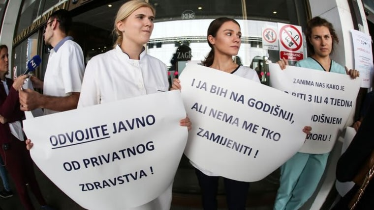 Protesta del sector Salud (FOTO: Marin Tironi/PIXSELL)