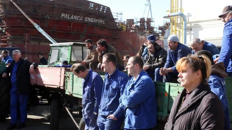 Trabajadores del Astillero Treći Maj (FOTO: Goran Kovacic/PIXSELL)