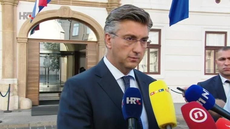 Primer ministro Andrej Plenković (FOTO: HRT)