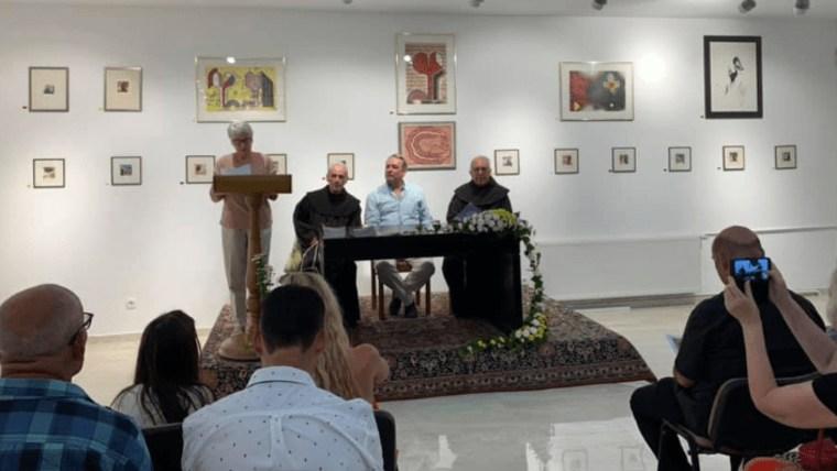 Otvaranje Galerije hrvatske dijaspore u Splitu. (Foto: Samostan sv. Ante Poljud/ screenshot Facebook)