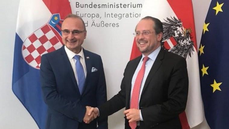Gordan Grlić Radman mit seinem österreichischen Amtskollegen Alexander Schallenberg (Foto: MVEP)
