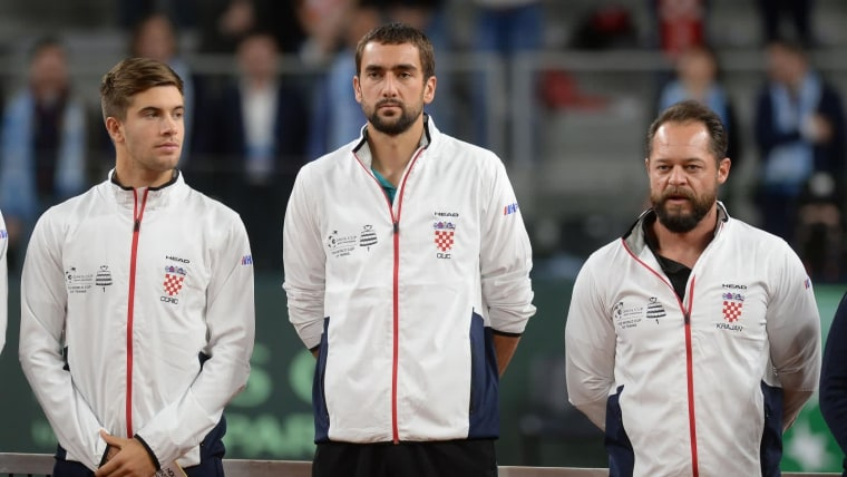 Borna Ćorić, Marin Čilić und Željko Krajan (Foto: Vjeran Zganec Rogulja_PIXSELL)