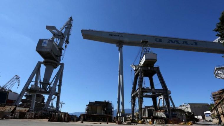 Produktionsbeginn der Werft 3. Maj (Foto: Goran Kovacic / PIXSELL)