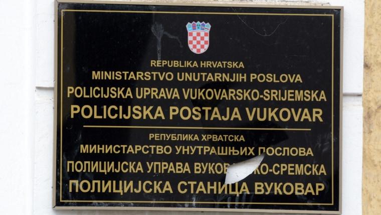 Placa bilingüe en Vukovar (Foto: Goran Ferbezar/PIXSELL)