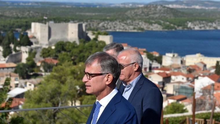 Ministro Cappelli en Šibenik (Foto: Hrvoje Jelavic/PIXSELL)