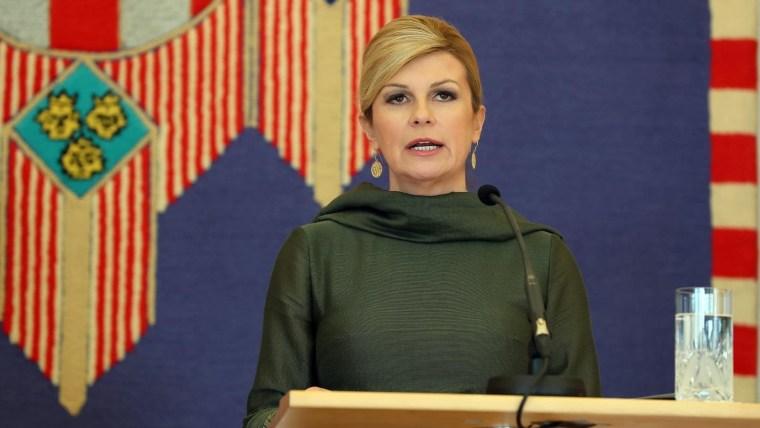 Presidente Kolinda Grabar-Kitarović (Foto: HRT)