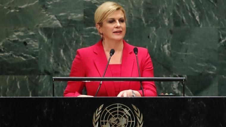 Croatian President Kolinda Grabar Kitarović (Photo: REUTERS/Lucas Jackson)