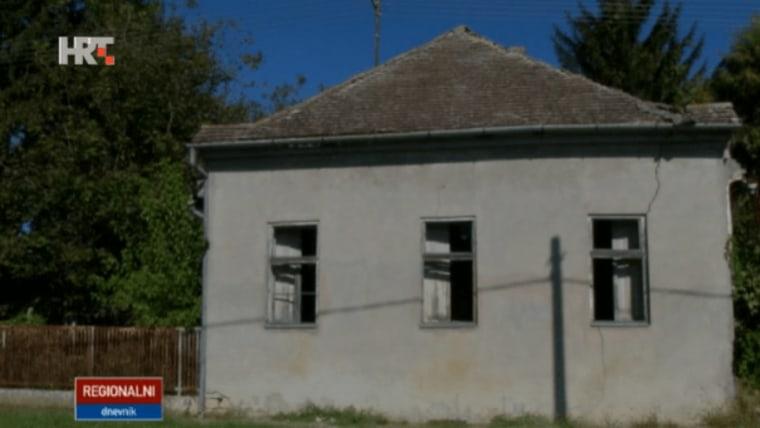 Napuštena kuća u općini Popovac. (Foto: hrt.hr/ screenshot)