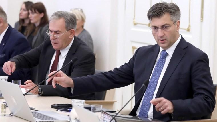 Prime Minister Andrej Plenković at today's government cabinet session (Photo: Patrik Macek/PIXSELL)