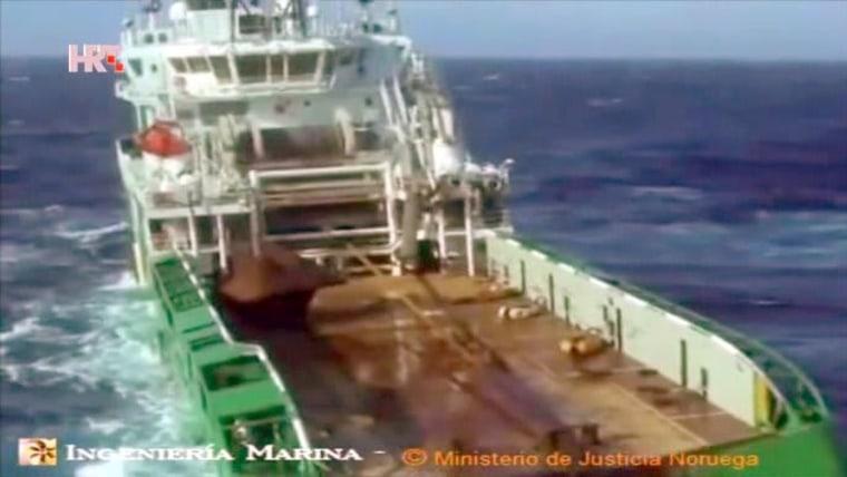 Labores de búsqueda en el Atlántico (Foto: HRT)