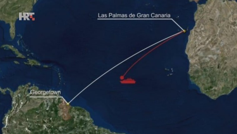 The Bourbon Rhode wend down last week in the middle of the Atlantic Ocean (Graphic: HRT)