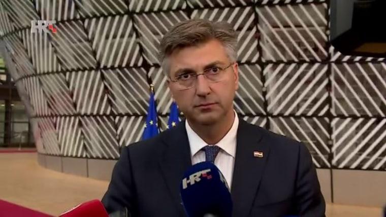 Premier Andrej Plenković, (Foto: HRT)