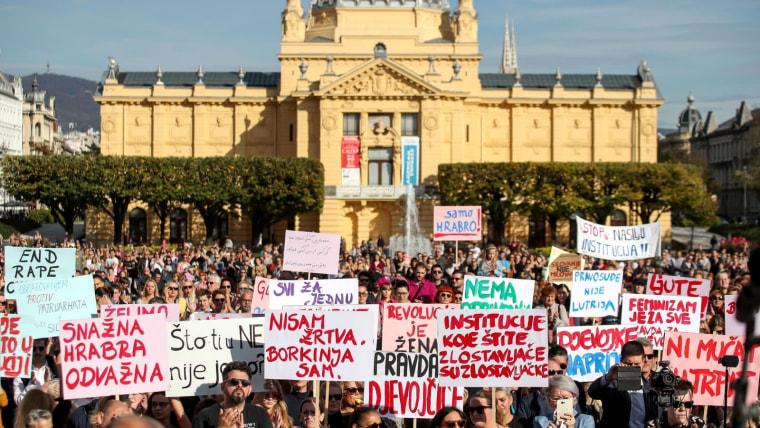Protesta en Zagreb