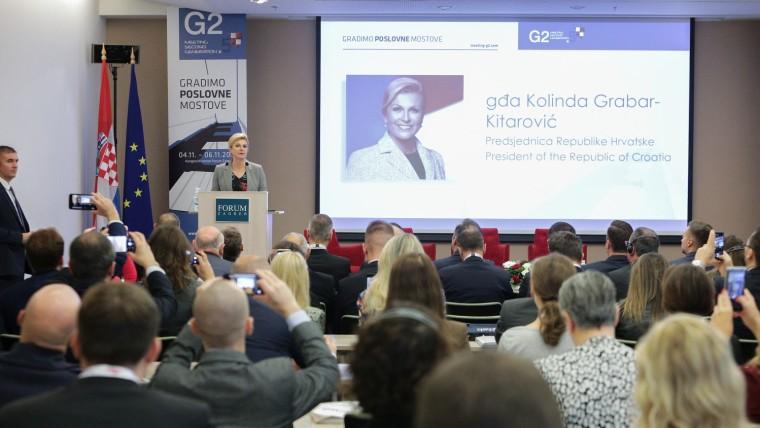 Predsjednica otvara Konferenciju (Foto: Konferencija Meeting G2.5 – PR i marketing/s dopuštenjem)