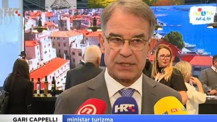 Der Tourismusminister Gari Cappelli (Screenshot: HRT)
